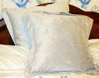 Pillow sham, minky pillow case: Custom made luxury, 28 x 28 inch square