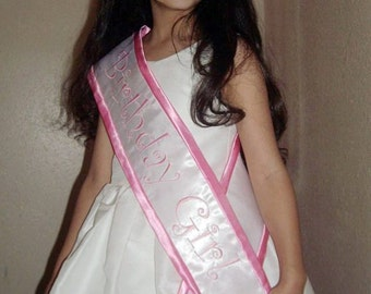 Candy pink Birthday Girl Satin sash