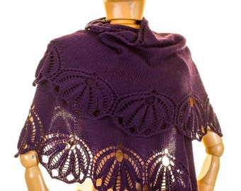 Floria, Lace Shawl Knitting Pattern