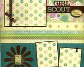 Girl Scout - Kind and Caring - 12x12 Premade Scrapbook Page