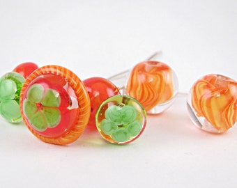 Happy With A Twist Lampwork Bead Set