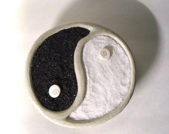 Yin Yang. Zen. Nano. HandMade. Concrete . Bowl