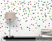 Peel and Stick Circle Polka Dot Shaped Wall Decals 120 Vinyl Decals in Three Colors - Nursery Kid Room Decor - Random Dots or Create Pattern