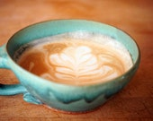 Cappuccino Cup In Turquoise- Made to Order