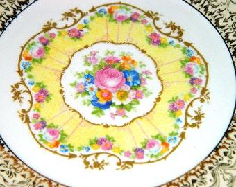 Vintage Limoges Candle Light Royal Delight 22K GOLD Sebring Royal Delight Porcelain Cup & Saucer, Tea Cup, Coffee Cup, Cottage Chic