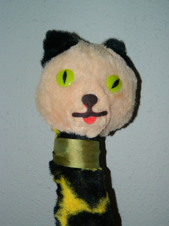 Vintage Fable Toy Company Crazy Cat Stuffed Animal Meow