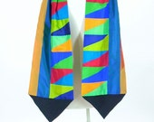 Silk Artisan Scarf/ Patchwork Silk Scarf/ Extra Long Scarf/ brendaabdullah