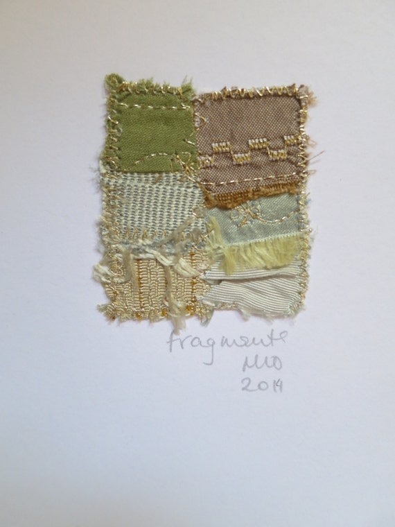 Textile Art, Blank Greetings Card, Embroidery, Wedding,