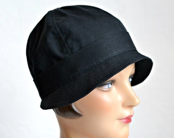 Cloche Rain Hat - Waxed Canvas Rain Hat - Made To Order - 4 to 6 WEEKS FOR SHIPPING