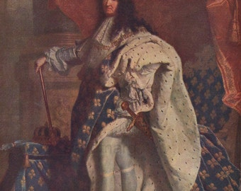 Louis XIV of France  Hyacinthe Rigaud 1701 Reprint 1939