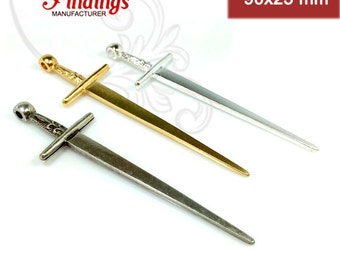 Quality Cast 90x25mm Sword of Camelot Pendant  Decorative Fashion  Choose your Color  (CH17)