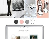 Mobile Responsive Blogger Template | Premade Blogger Template | Blog Design Magazine Love pink