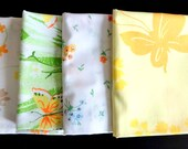 Mixed Lot of 4 Vintage Print Pillow Cases