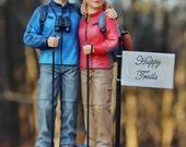 Outdoor Hiker Hiking Walking Wedding Cake Topper Backpack