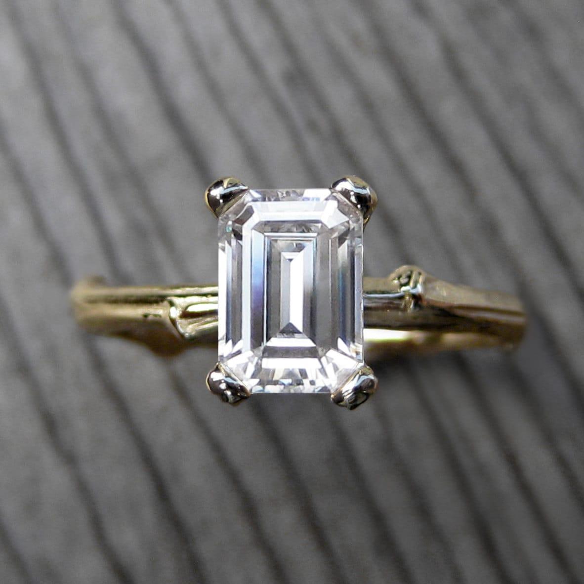 Moissanite Rings Emerald