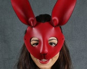 Rabbit mask in leather