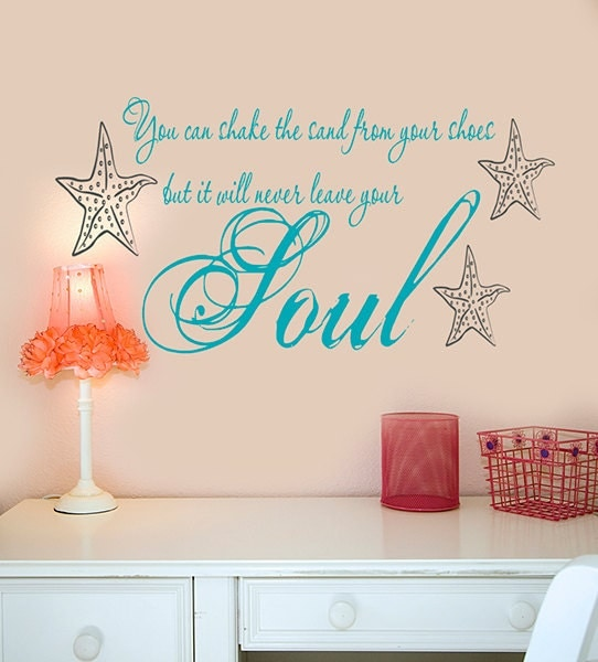 Beach wall decals decor you can shake the sand from your for Beach wall decals