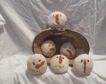 Snowman Face Bowl Fillers/Ornaments