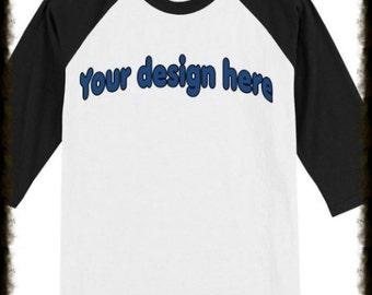 Baseball tee custom designed