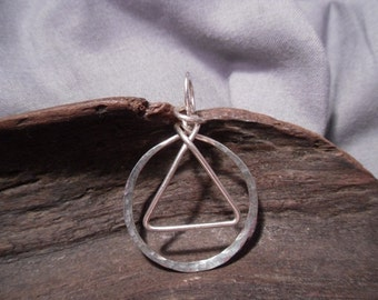 12 Step Recovery Silver Wire Wrap Pendant Worthy 0611
