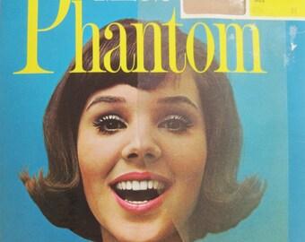 Vintage 60s Stockings Miss Phantom New in package 2 Pairs Nude Seamless 8.5 M