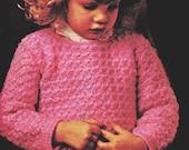 Toddler Crochet Pattern, Simple Crochet Toddler Sweater Pattern, Crochet Toddler Pullover Pattern INSTANT Download Pattern PDF (1336)