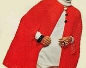 Cape Crochet Pattern, Long or Short Crochet Cape Pattern, Crochet Shawl Pattern, INSTANT Download Pattern PDF (1605)