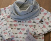 BIMAA Cowl Neck Top - Ella Elephant- Pink - Girls - Size 2 - 2T