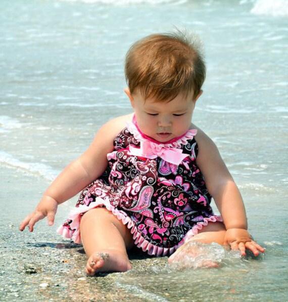 "Baby Doll ""Ruffled Ella"" swim diaper set"