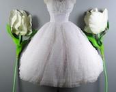 RESERVED ////////// Vintage 50s Wedding Dress // 1950s Wedding Dress // Strapless Wedding Dress // Lace Wedding Dress - sz XS - 24 Waist