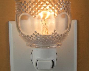 Small Clear Glass Custom Demitasse  Cup Night Light