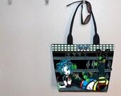 Myka Jelina Darby, Roller Derby Girl tote bag, book tote, large purse, canvas tote, shoulder bag