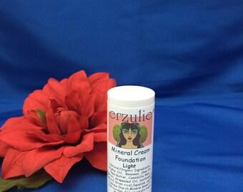 Organic Foundation Erzulie Natural Cream Foundation Stick In LIGHT  Non-Comedogenic Waterproof Color Adjusting Mineral Blend