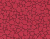 Lucy's Escapades Red Hearts Print 100% Cotton Quilting Fabric