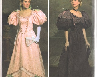 Simplicity 4078 Misses Ball Gown Costume Pattern 1900s Edwardian Victorian Womens Sewing Size 6 8 10 12 Bst 30 31 32 34 Or 14 16 18 20 UNCUT