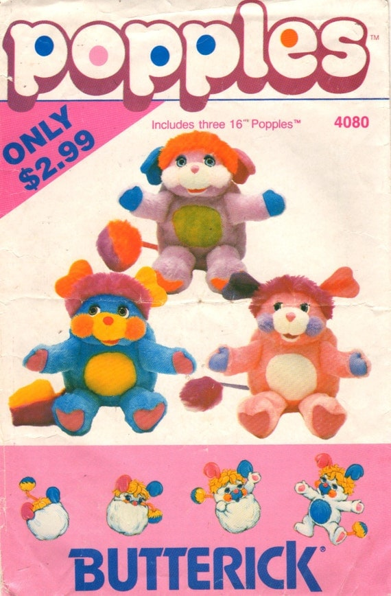 Butterick 4080 418 1980s Soft Popples Pattern Pancake by mbchills