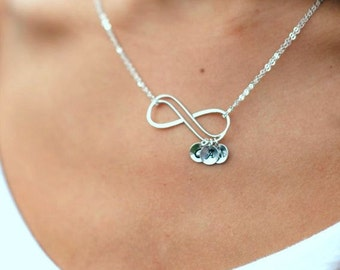 Personalized Infinity Necklace, Mothers necklace, Friendship necklace, Best friends, sisters, siblings, children initials, grandmother gift
