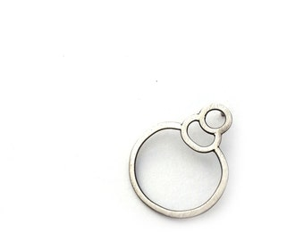 Single Earring, EAD2015 #59/365: Asymmetric Earring, Stud Earring, Oxidized Silver Post Earring, Sterling Silver Contemporary Jewelry