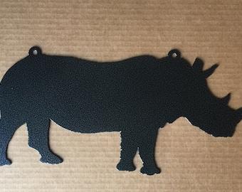 Rhino Metal Wall Art (I7)