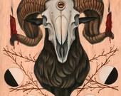Goat Skull PRINT
