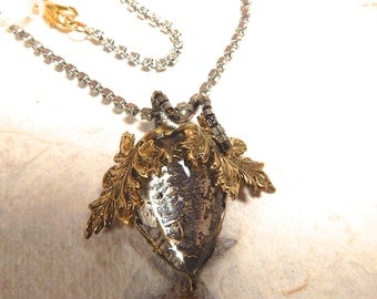 Steampunk Necklace of Low Hanging Fruit Floating Back in Time