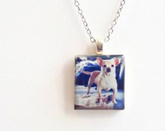 Instagram Picture Necklace - Custom Photo Scrabble Jewelry - Personal Photo Jewelry - Instagram Jewelry - Dog Memorial Jewelry - In Memorium