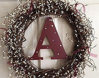 "18"" Personalized Initial Wreath"