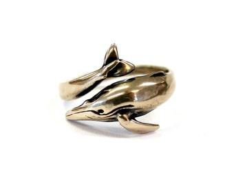 Humpback Whale Ring in Solid Bronze Humpback Whale Ring Humpback Whale Ring Jewelry 459