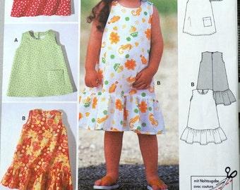 Burda 3026 - Girls Dresses & Jumper Dresses - Very Cute and Easy - Size 2 - 7 - Toddlers - UNCUT - Sundress, Summer Fashion - DIY Kids