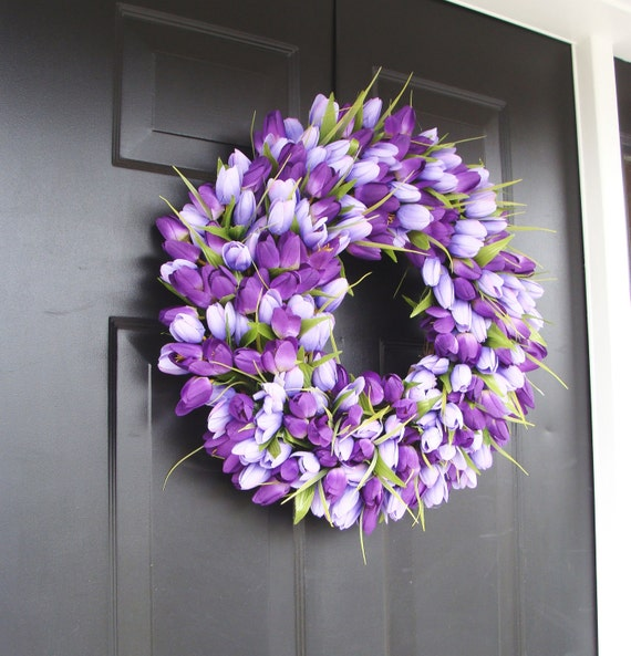Lavender Spring Wreath- Wreath for Spring- Mother's Day Wreath- Spring Decor- Lavender Wreath- Easter Wreath