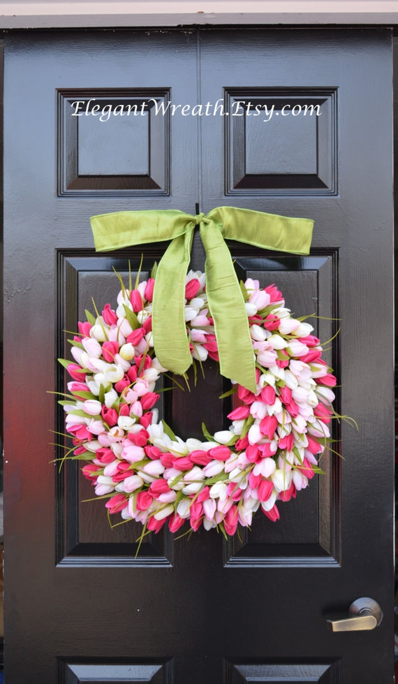 Add a Satin Bow, Wreath Decoration, Bow Added to Wreath, Christmas Ribbon, Many Colors Available