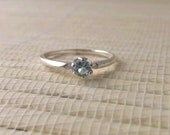 Aquamarine Ring Sterling Silver March Birthstone Made to Order