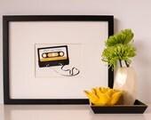 Art Print - Personalized Cassette Tape