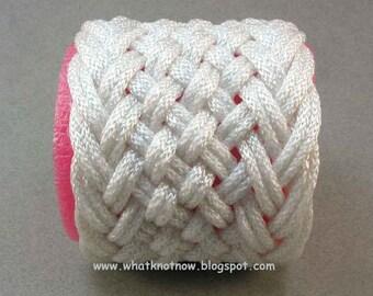 rope bracelet wide hybrid herringbone weave rope cuff knot bracelet turks head knot nylon cord cuff woven bracelet 2760
